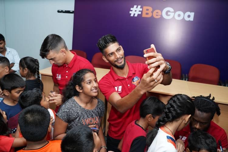 FC Goa's Junior Gaurs spend a joyful evening with team's star players