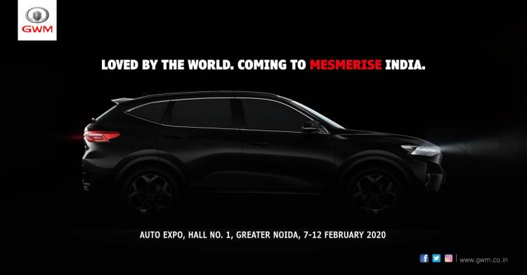 GWM to make its India debut at Auto Expo 2020