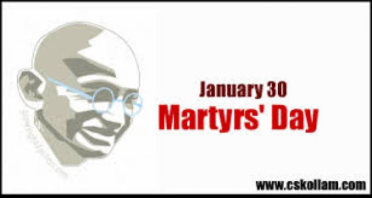 Martyrs' Day(India) is observed on January 30