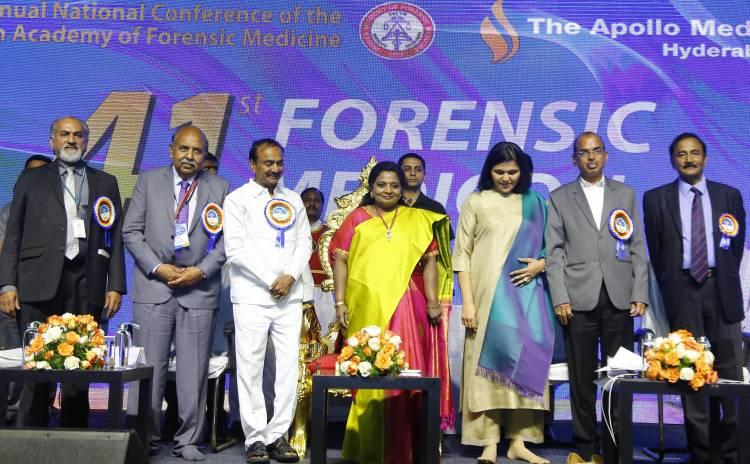 Hon'ble Governor Dr. (Smt) Tamilisai Soundararajan, inaugurates the '41st Forensic Medicon'