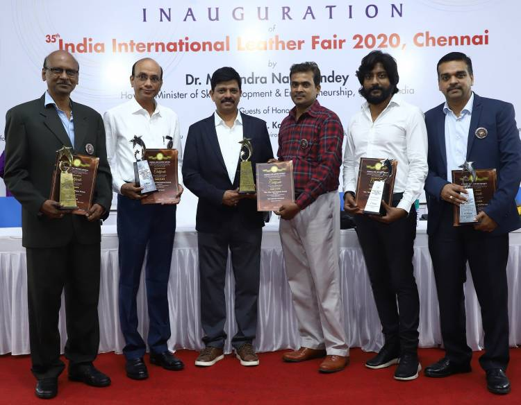 Tata International wins big southern region export awards held at the 35th India International Leather Fair 2020