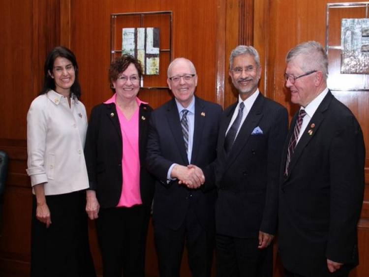 EAM meets Canadian Parliamentary delegation,discusses 'promising future' of India-Canada ties
