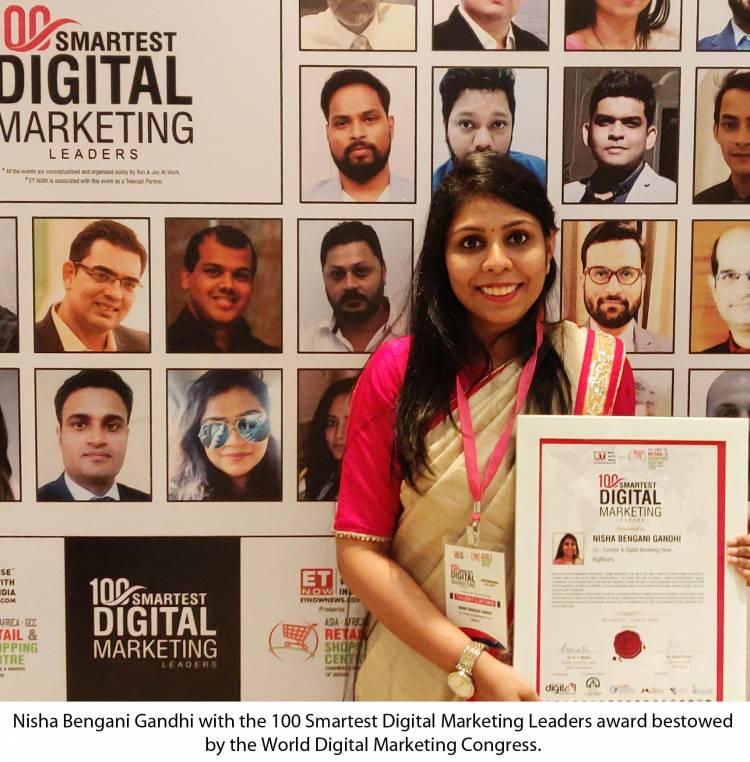 Hyderabad's Nisha recognized among the 'World's 100 Smartest Digital Marketing Leaders' by World Digital Marketing Congress!