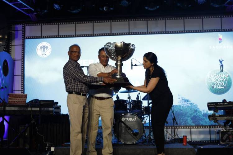 G Ramachandra, wins the prestigious KGA Baghmane Trophy-2020