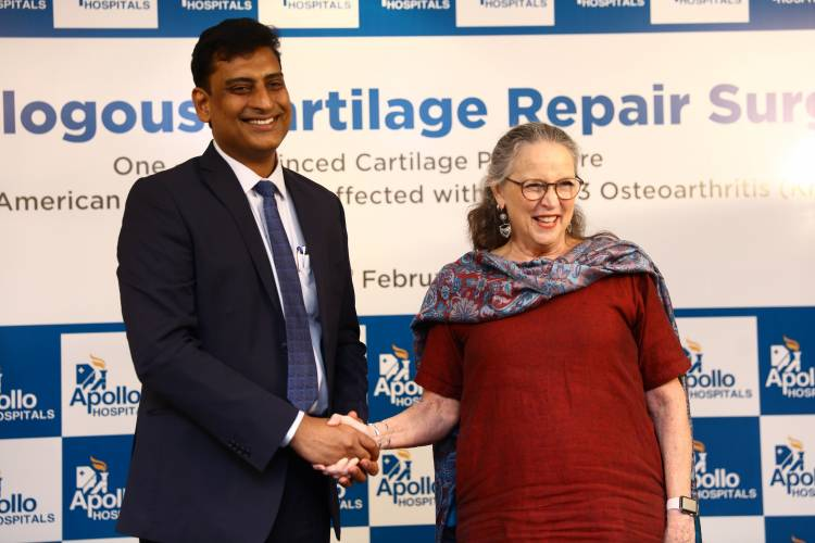 Apollo Hospitals Performs One-Step Minced Cartilage Procedure on a 69 year old American Woman