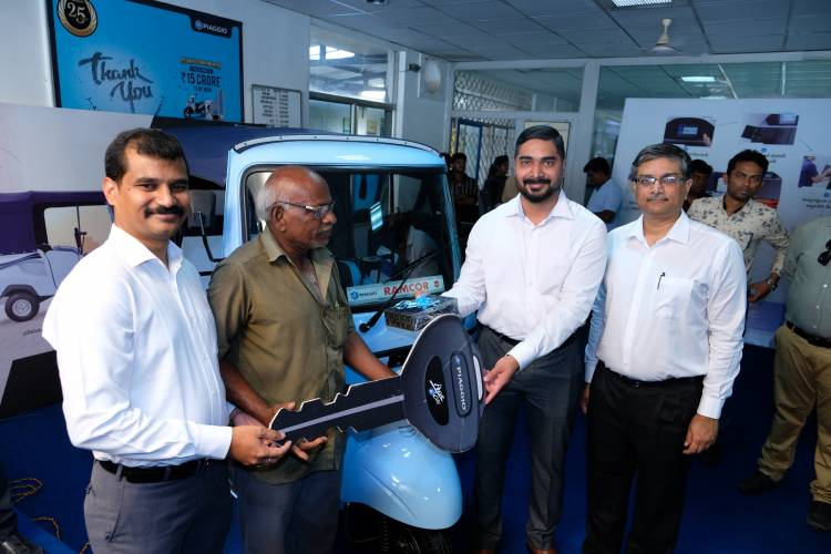 Piaggio launches Ape' E- City in Vijayawada