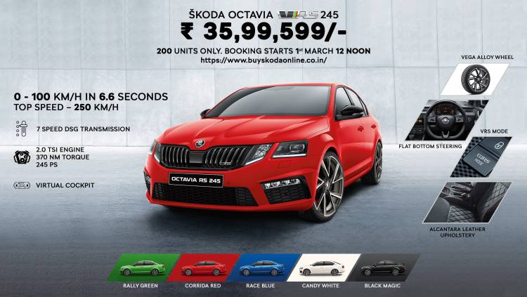The powerful new ŠKODA OCTAVIA RS 245 - now a click away!