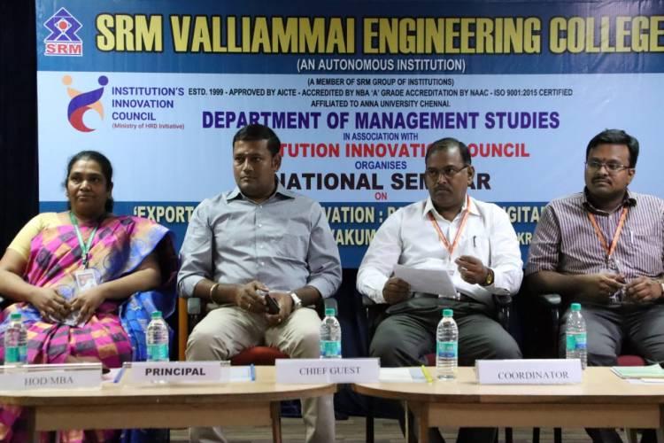 National Seminar on 'Export Marketing Innovation: Paradigms in Digital Economy'