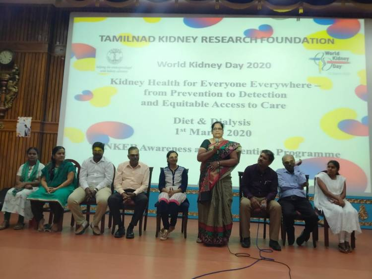World Kidney Day 2020 TANKER Programme on 01st March 2020 at MMM Auditorium