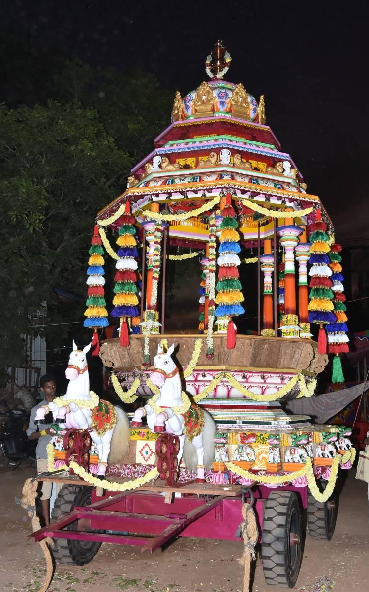 Chariot from Tamil Nadu for Rama Navami Celebrations at Ayodhya