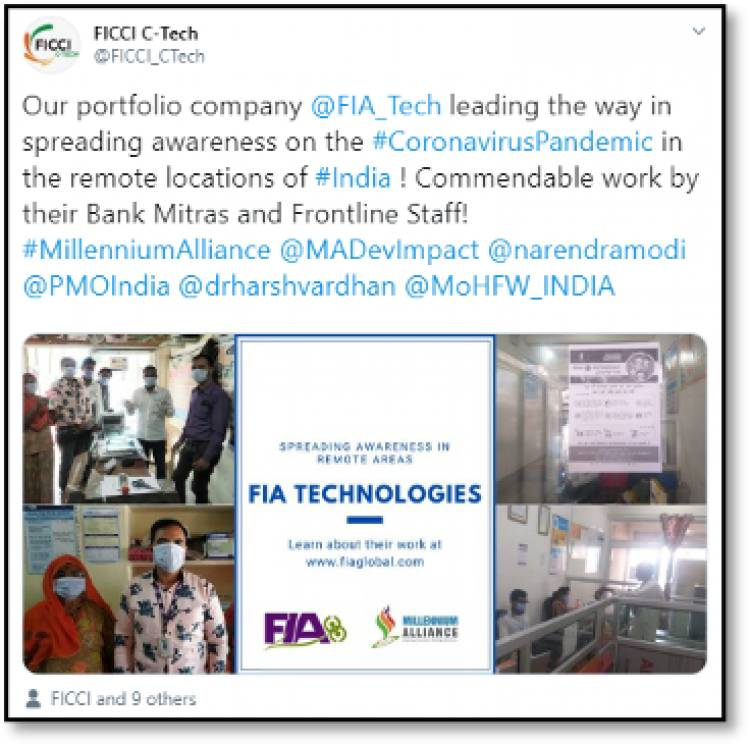 FIA Global's Bank Mitras spreading awareness on Coronavirus in Rural India