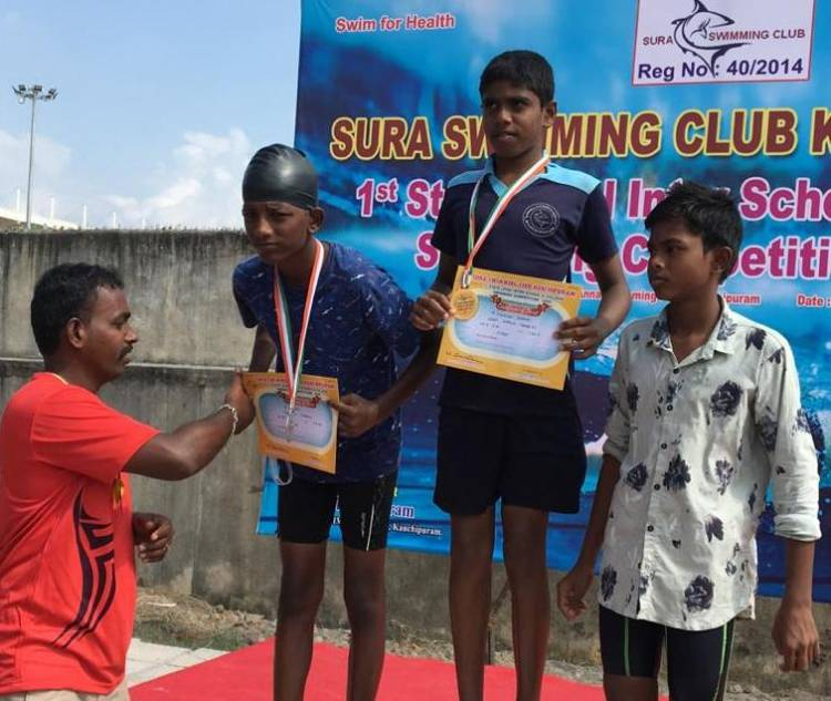 VELAMMAL EXCELS IN SWIMMING