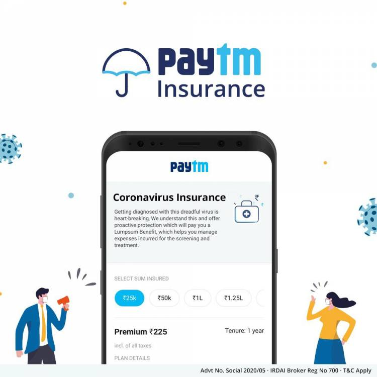 Paytm's new COVID-19 insurance covers loss of pay, quarantine expenses, and treatment costs