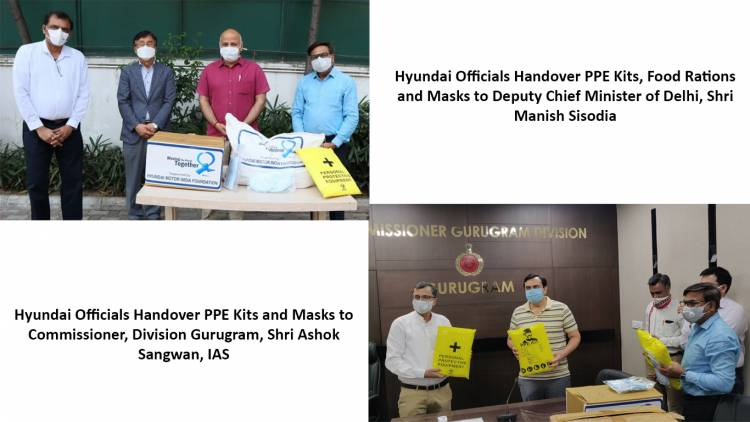 Hyundai Motor India Distributes PPE Kits, Masks, Sanitizers and Dry Rations worth more than Rs 9 Crore