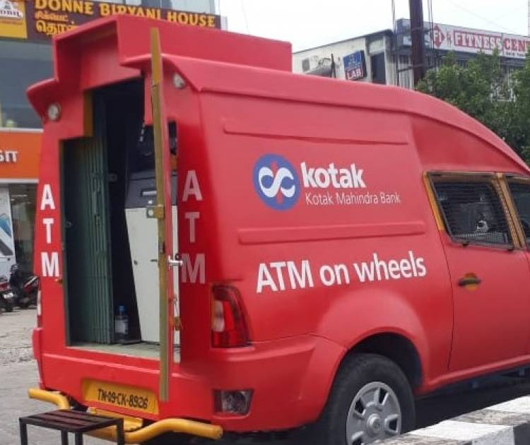 "Kotak Mahindra Bank Launches ""ATM on Wheels"" in Chennai"
