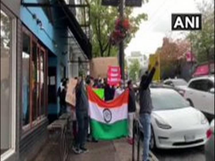 Indian community holds anti-China protest outside Beijing Consulate in Vancouver