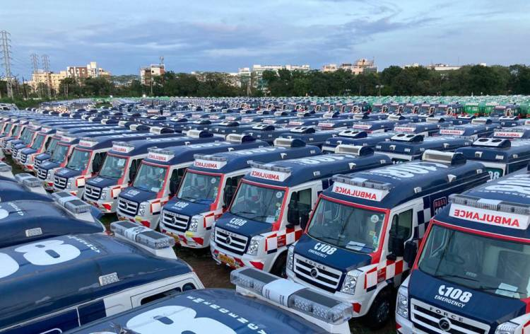 1000 New Force Ambulances commissioned by AP Govt to combat COVID