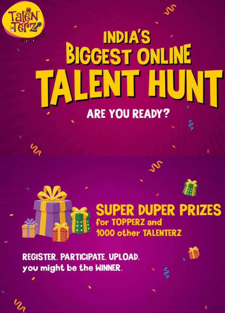 'TALENTERZ' to host India's biggest online talenthunt, winners will showcase on global stage!