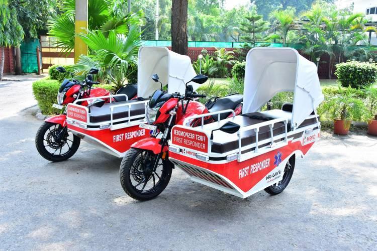 HERO MOTOCORP DONATES UNIQUE FIRST RESPONDER VEHICLES (FRVs) TO CIVIL HOSPITAL, GURUGRAM