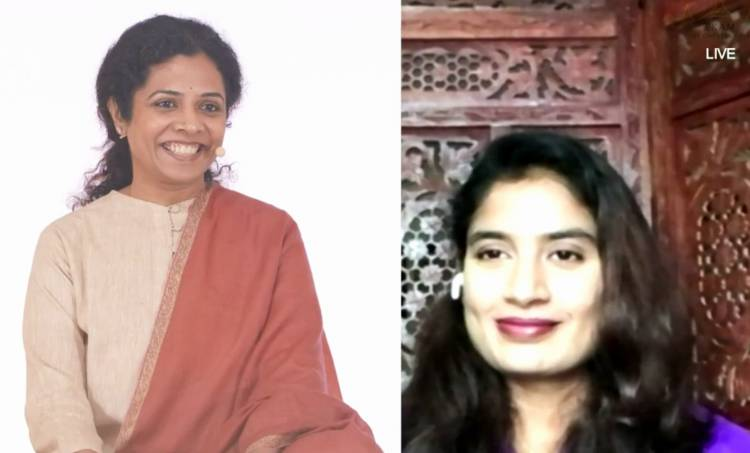 Saina Nehwal and Mithali Raj at Ekam world Peace Festival 2020