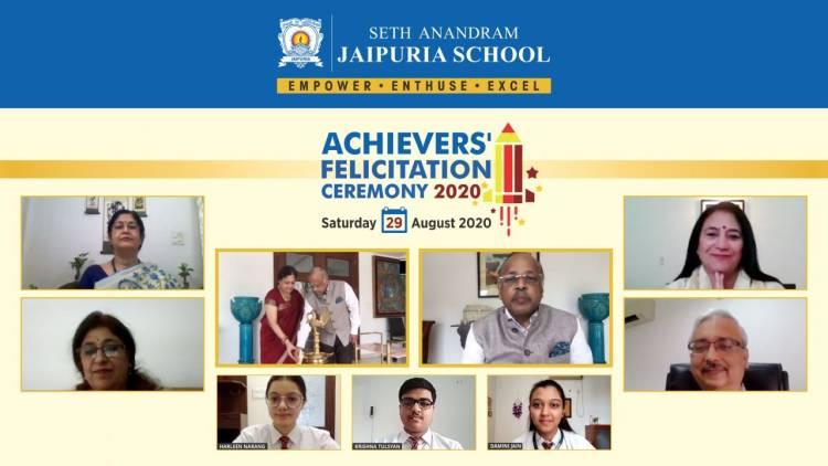 Felicitation Ceremony for High Achievers by Seth Anandram Jaipuria School
