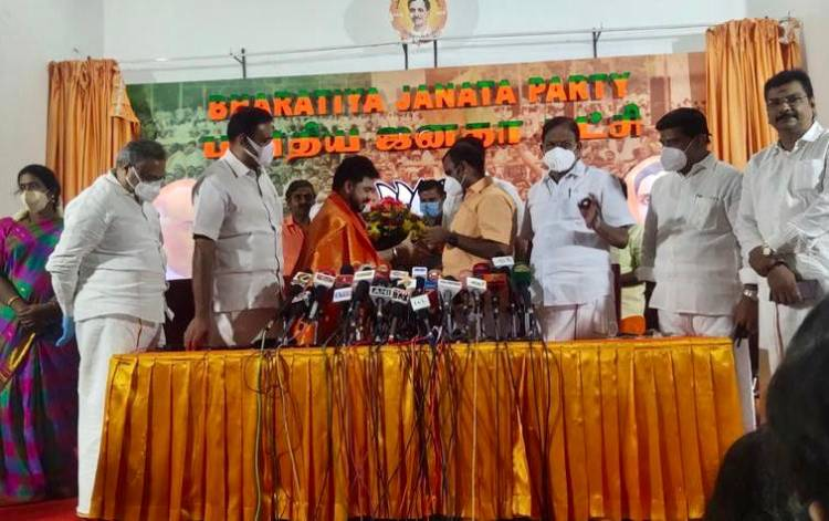Very happy to have joined @BJP4India today Overwhelmed by the warm welcome from the State Leaders @Murugan_TNBJP
