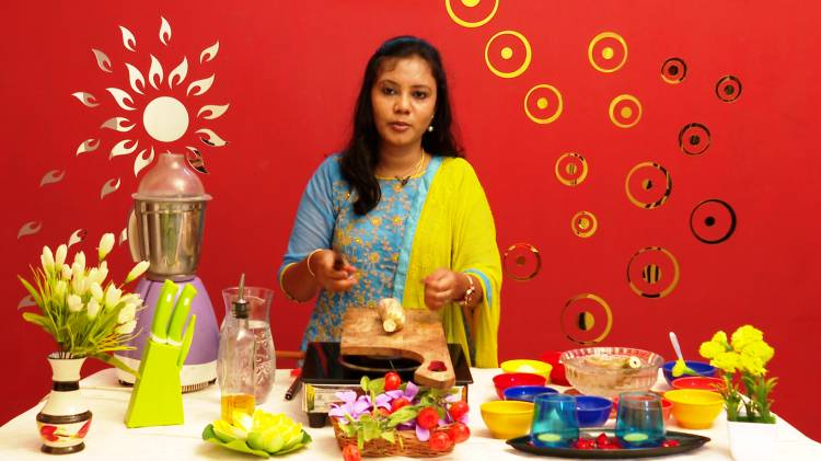 """Peppers tv presents food preparation show in our kitchen studio set. The show called """" Studio Kitchen """""""