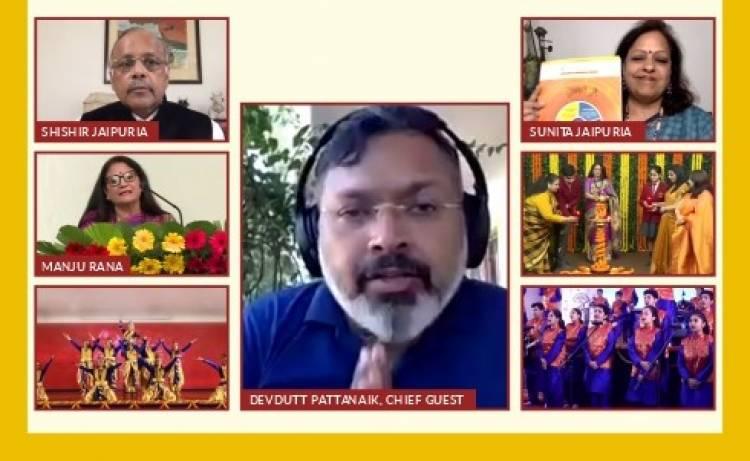 Seth Anandram Jaipuria School, Ghaziabad, celebrates 16th Founder's Day with author DevduttPattnaik