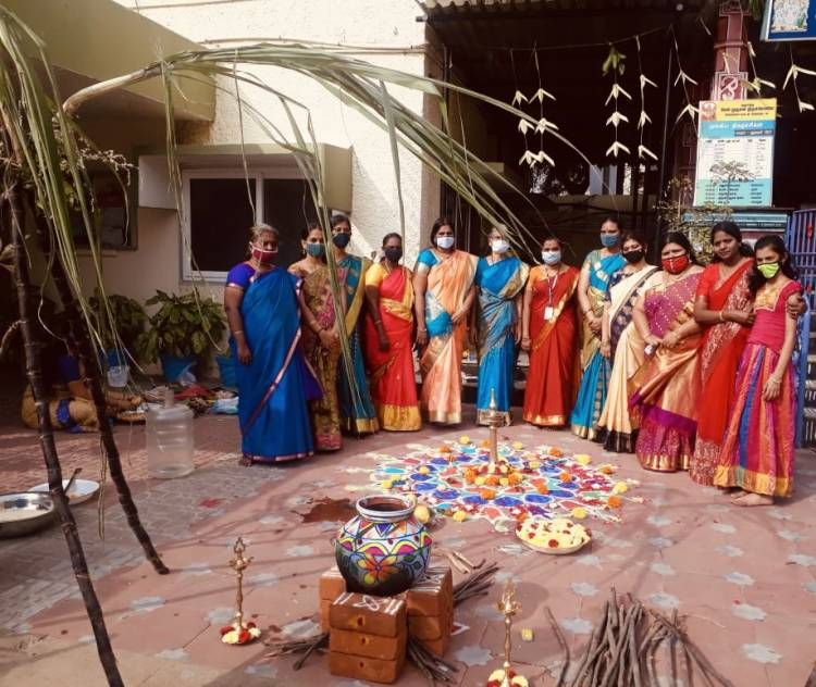Pongal celebrated at Velammal Main school, Mogapair campus celebrated Pongal festival