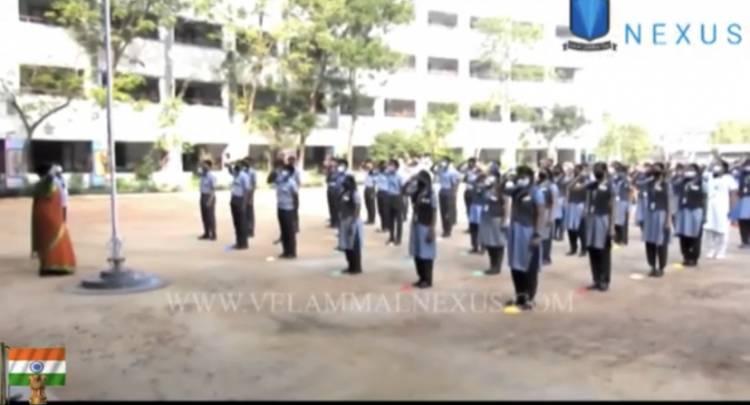 வேலம்மாள் பள்ளியில் 72 வது குடியரசு நாள் கொண்டாடப்பட்டது.