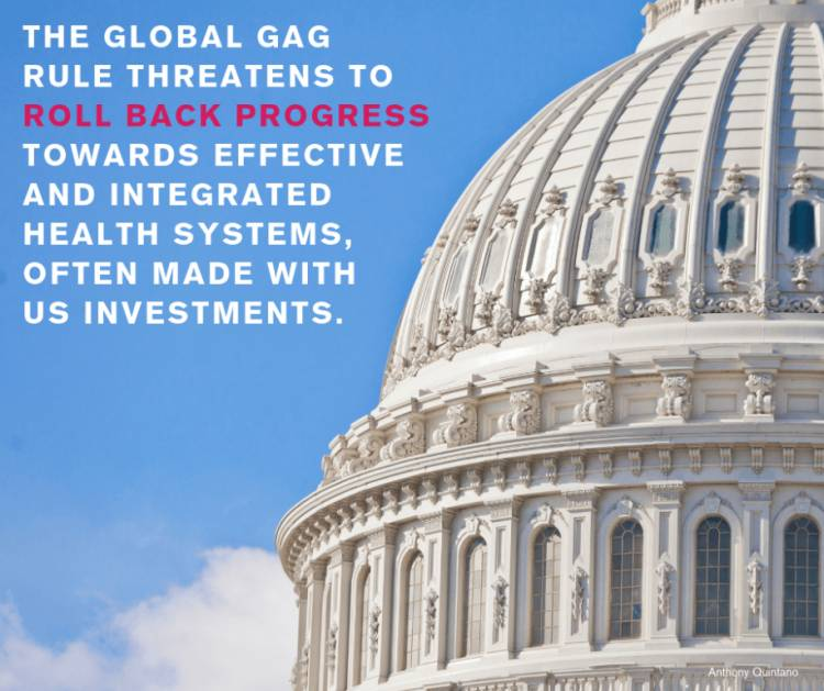 """Removing the """"Global Gag"""" will benefit millions of vulnerable women and girls worldwide"""