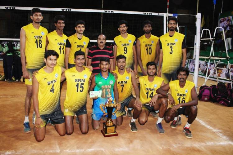 State level Volleyball Men Tournament organised by Volleyball Association by Virudhachalam 5th to 7th February 2021