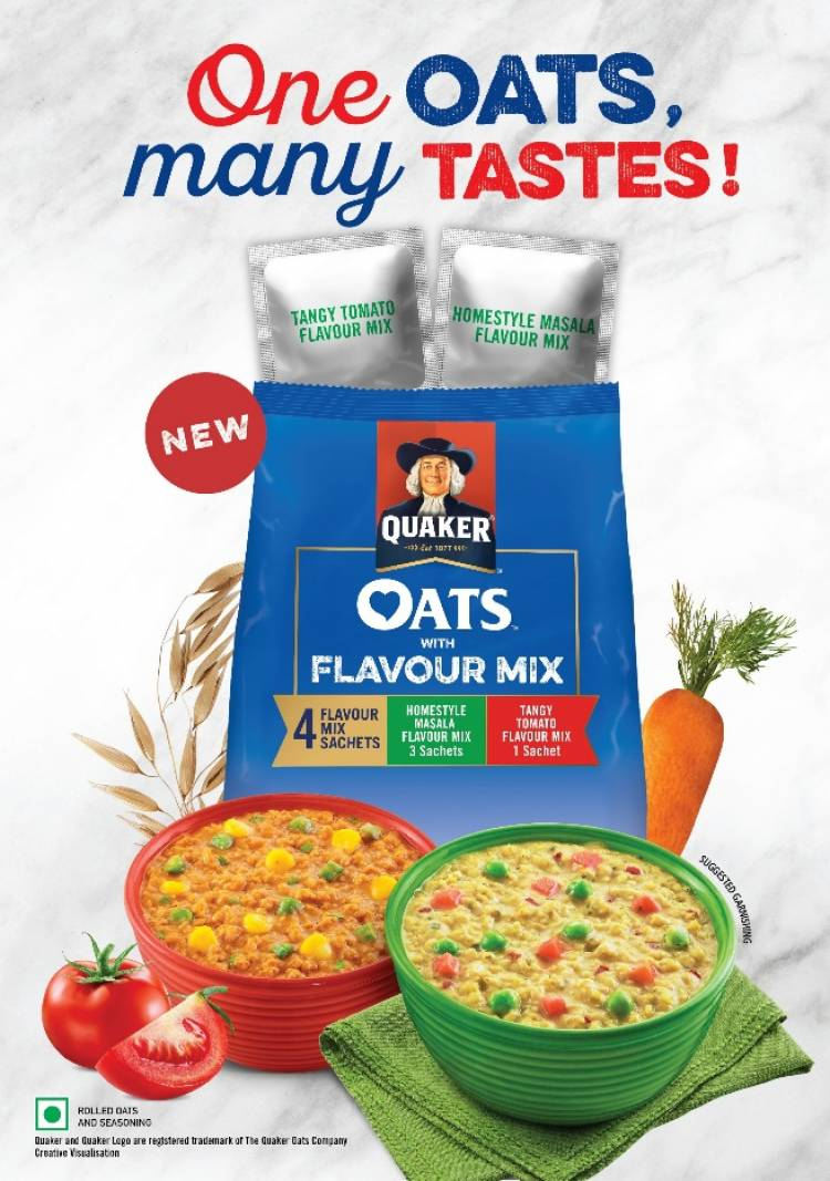 QUAKER OATS BRINGS FIRST-OF-ITS-KIND FOOD FLAVOUR INNOVATION IN OATS CATEGORY TO INDIA