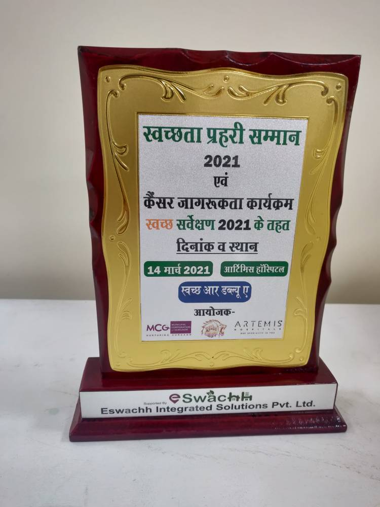 Laburnum, maintained by Alpha G Corp Management Services, receives Swachhta Prahari Samman