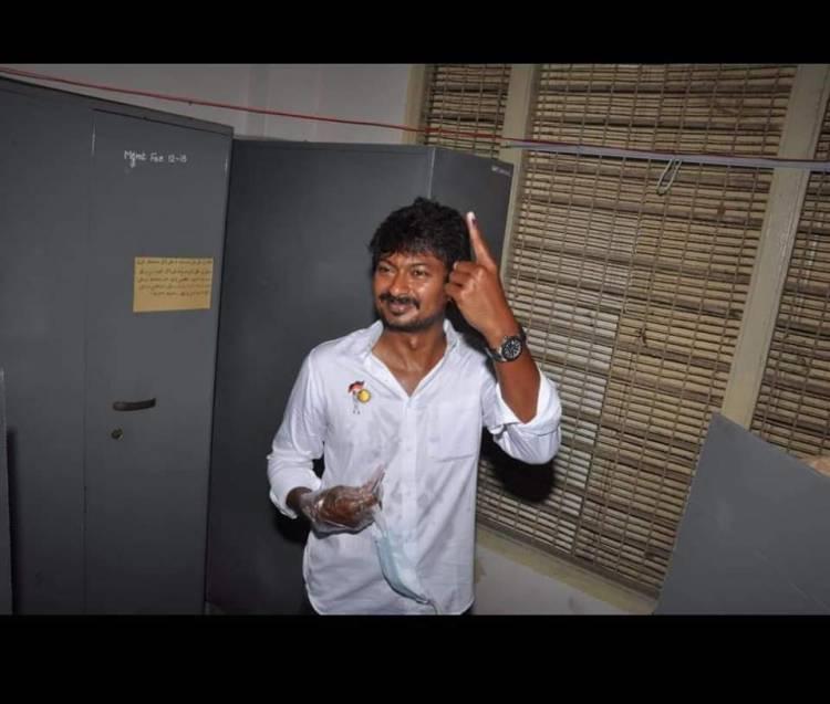Actor @Udhaystalin cast his vote
