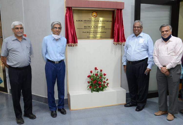 Endowment Created at IIT Madras in memory of Murugappa Group Patriarch Late Shri. A.M.M. Arunachalam