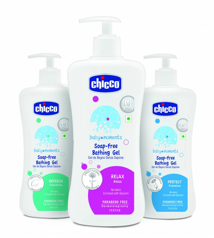 Relax, Refresh and Protect your baby's skin with Chicco Bathing Gel Range