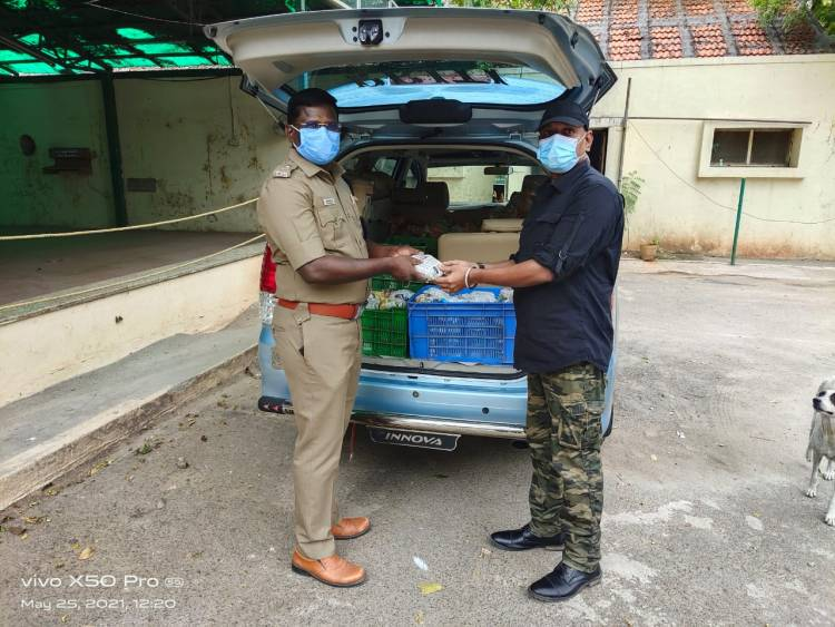 DCP Mount Lion Dr. K Prabakar inagurated our additional service - daily food for 108 ambulance drivers.