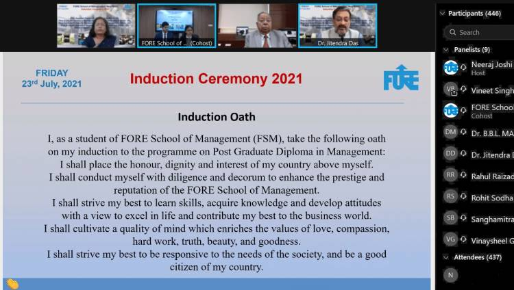FORE School of Management Welcomes Batch 2021-23.
