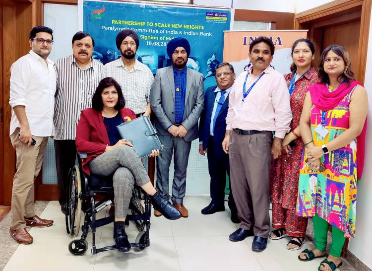 Indian Bank associates with PCI as one of the Banking Partners of Paralympic Games, Tokyo 2020