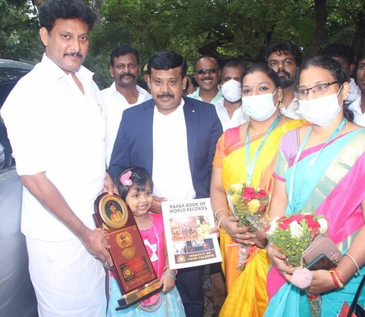 Velammal student enters Raaba Book of World Records