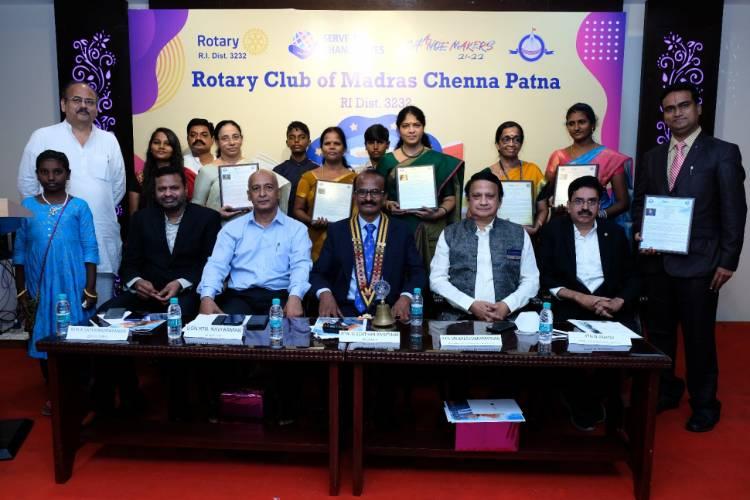 Rotary Club of Madras Chenna Patna honours 6 teachers