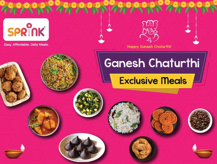 The Ganesh Chaturthi Food special with Bangalore-based Sprink.Online