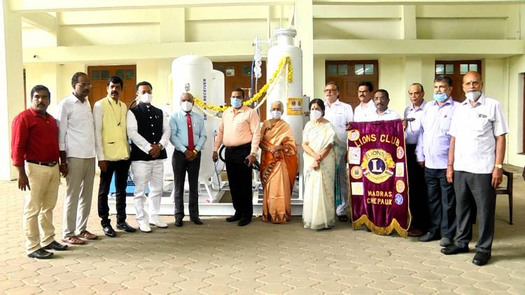 Lions Club of Chepauk continues its MASSIVE DONATION - Rs.2 Crore worth of 250 LPM Oxygen Generators donated to Erode Ortho Centre