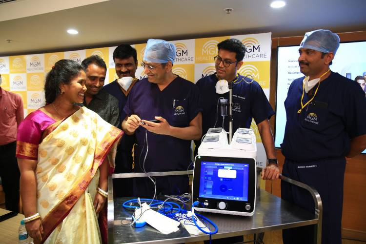 MGM Healthcare Chennai successfully performs India's first CT guidemd Minimally Invasive Neuro Surgical Procedure on a patient from Bangladesh