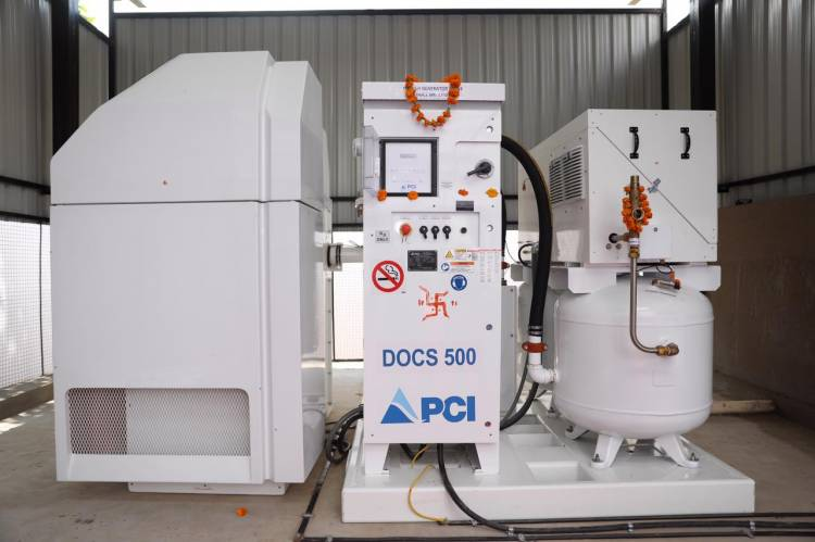 DTDC and Narayana Health successfully set up an oxygen generator plant in Jaipur