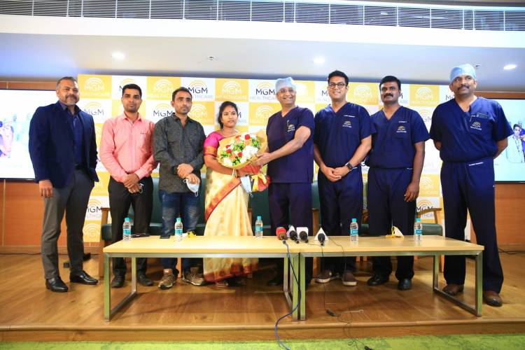 MGM Healthcare Chennai successfully performs India's first CT guided Minimally Invasive Neuro Surgical Procedure on a patient from Bangladesh